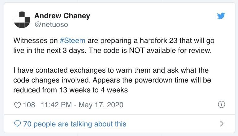Steem再度迎来硬分叉,孙宇晨将没收Hive支持者500万美元代币