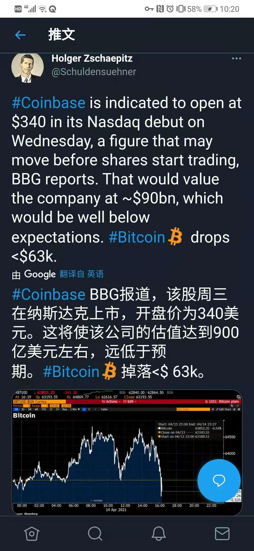 """不达预期?Coinbase破""""发""""千亿美元市值,证券市场对该标的很乐观!"""