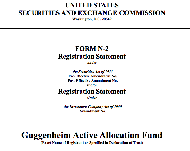 资管巨头Guggenheim向SEC提交新基金备案,或寻求加密投资敞口