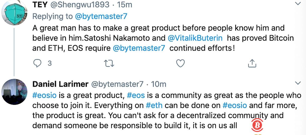 BM:EOSIO可以完成ETH上的所有功能,并且产品非常棒