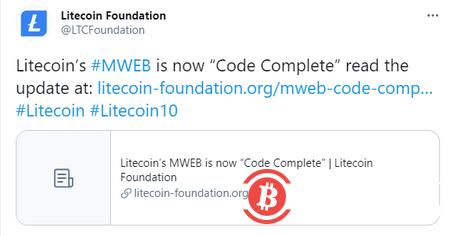 莱特币MimbleWimble隐私协议代码已完成-币安资讯网