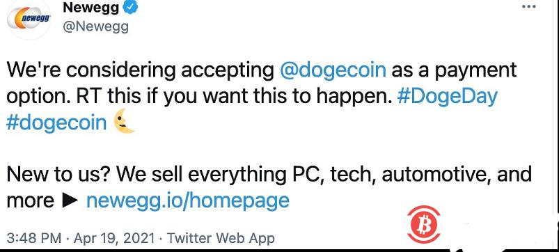 在线软件零售巨头Newegg正考虑接受狗狗币-币安资讯网