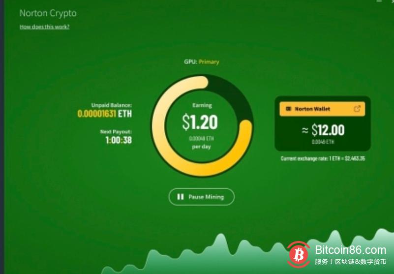 诺顿360防毒软件推出加密货币挖掘功能