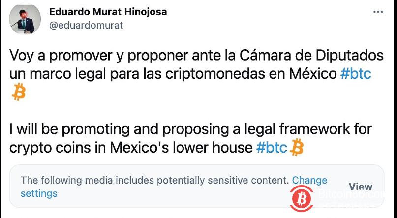 墨西哥立法者将提出监管加密货币资产的法律框架