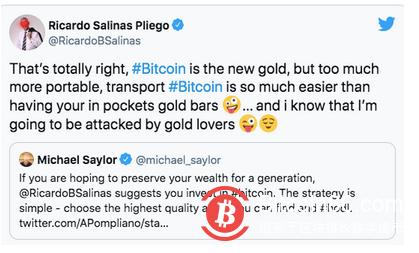 亿万富翁Salinas欲打造墨西哥首家接受比特币的银行