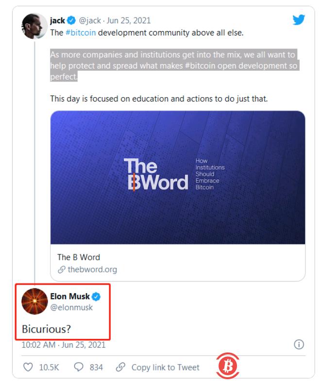 """马斯克、推特CEO约战7月比特币""""华山论剑""""!"""