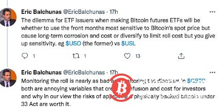 彭博社资深ETF分析师:SEC可能批准比特币期货ETF